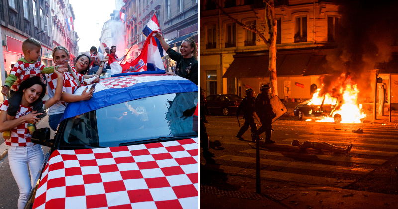 WORLD CUP - Multiculti France Burns, Dignified Croatians Celebrate Loss